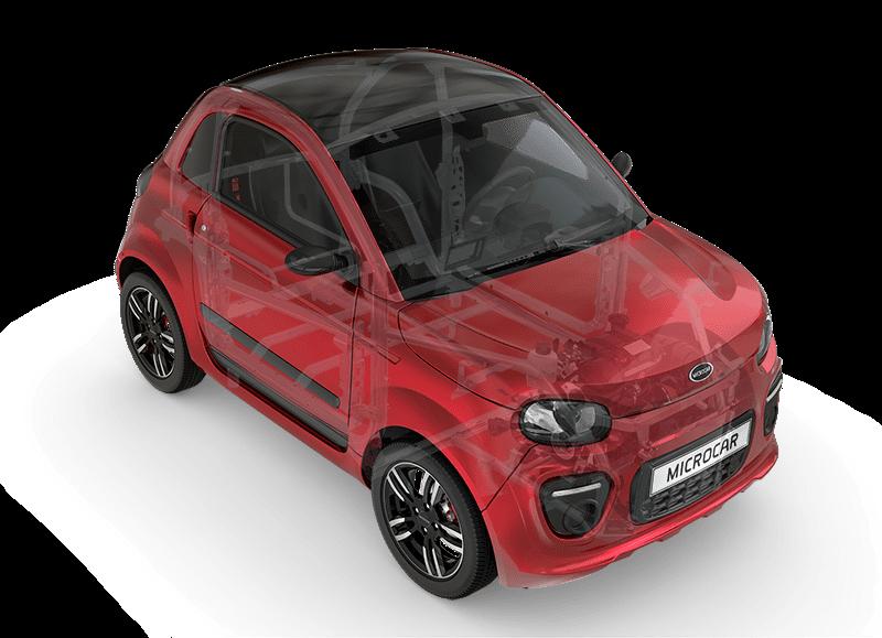 Sécurité Microcar Dué - voiture sans permis